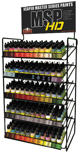 Master Series Paints High Density Colors: Countertop Rack - All 54 Hd Paints (4 Bottles Each) Box Front