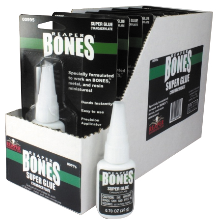 Glue: Bones Super Glue Display Carton (8 Bottles Of 00995) Box Front
