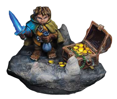 Dungeon Dwellers: Stitch Thimbletoe, Halfling Thief Box Front