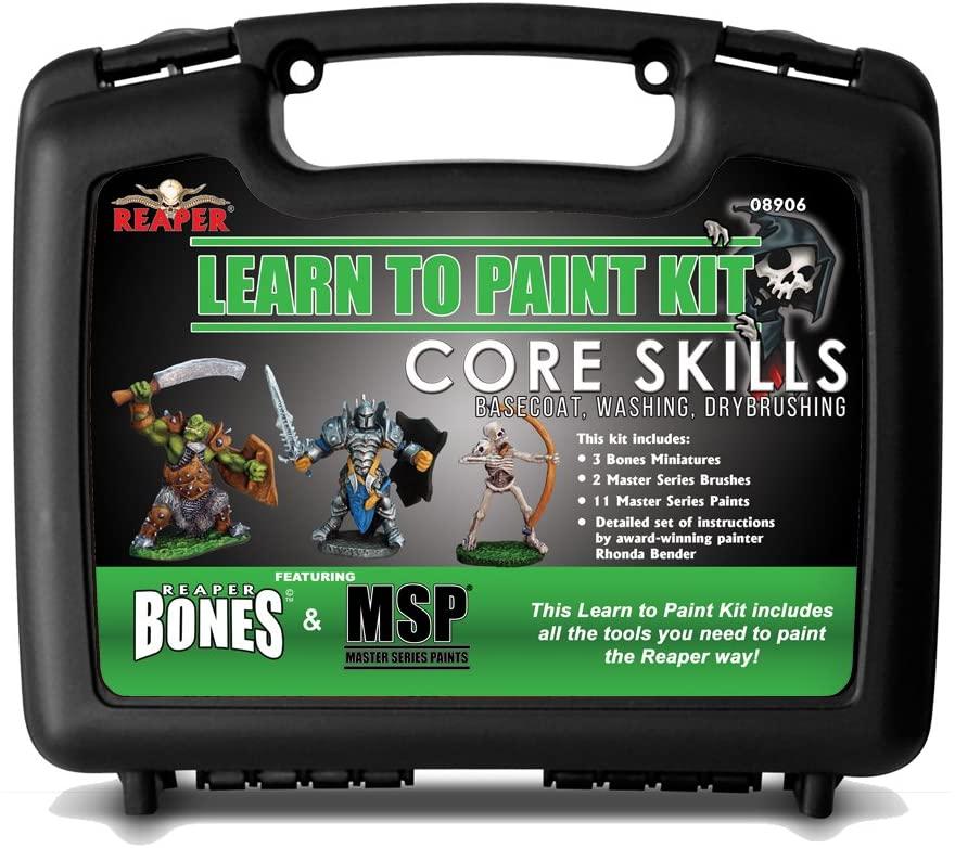 Learn To Paint Kit: Core Skills - Base Coats Washing And Drybrushing (bones)