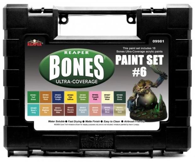 Msp Bones Ultra-coverage Paints: Set #6