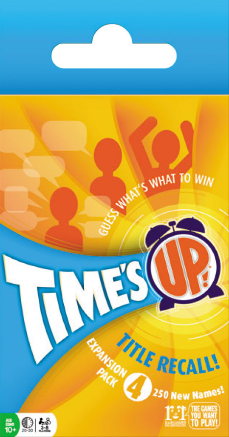 Times Up!: Title Recall Expansion Pack 4 Box Front