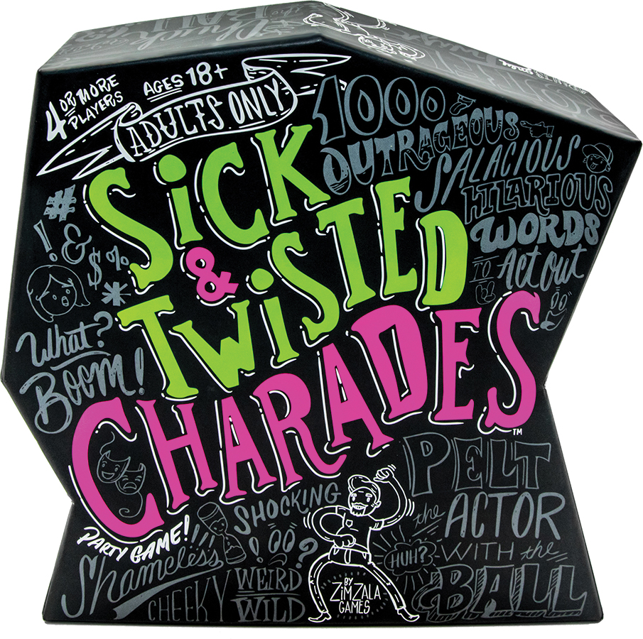 Sick & Twisted Charades Box Front