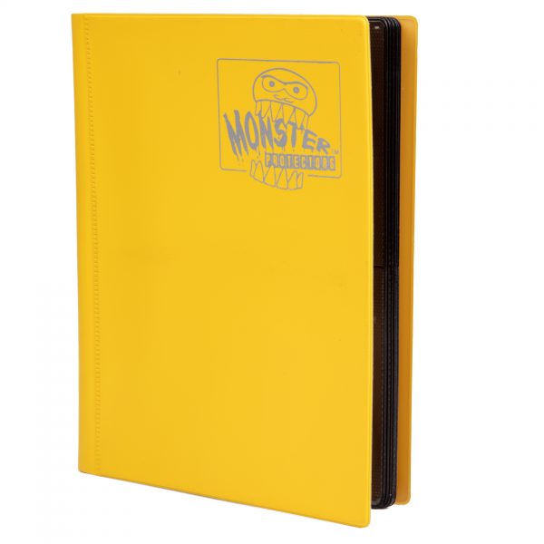 Monster Trading Card Album: 4 Pocket Matte Yellow Game Box