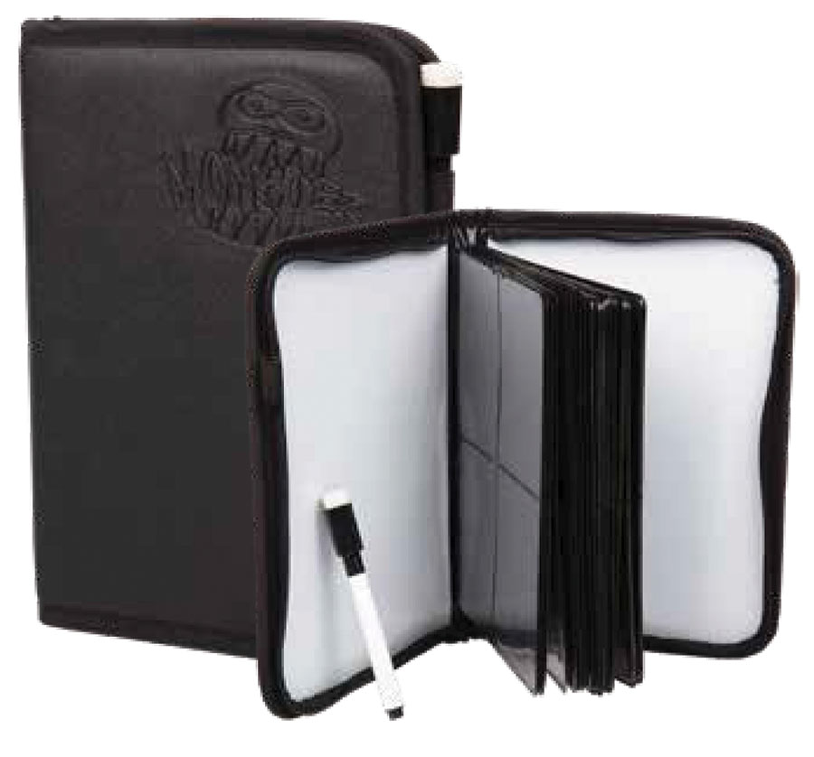 Monster Trading Card Album: 4 Pocket Deluxe Zipper Bound Binder - Black Game Box