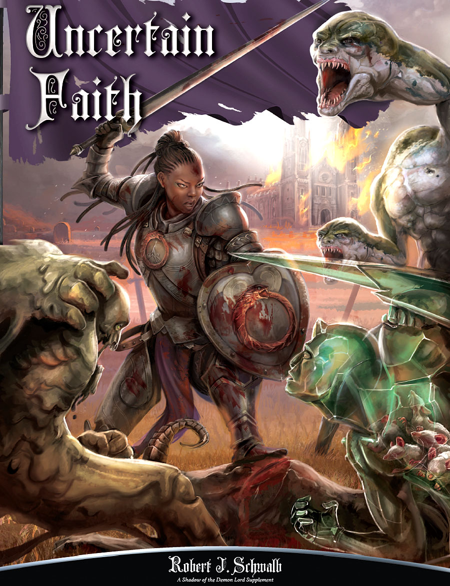 Shadow Of The Demon Lord Rpg: Uncertain Faith Box Front