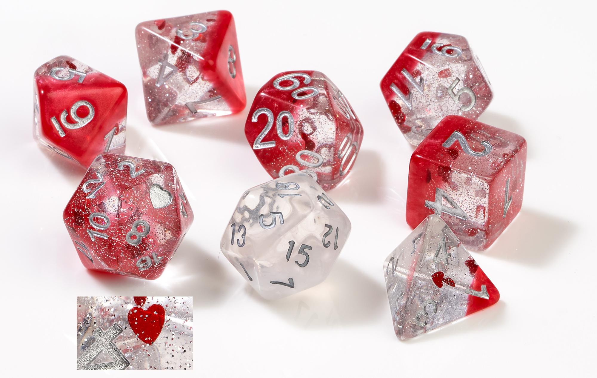 Rpg Dice Set (7): Hearts