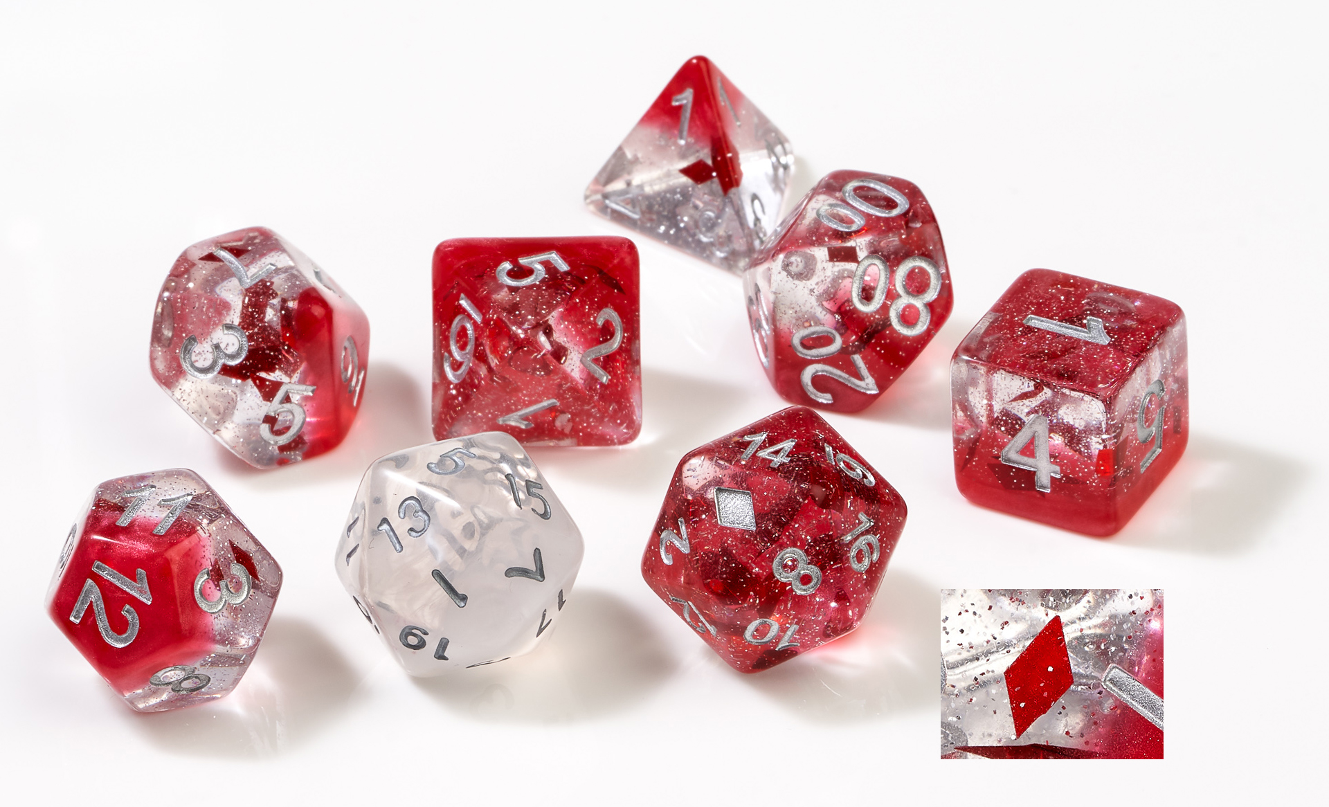 Rpg Dice Set (7): Diamonds
