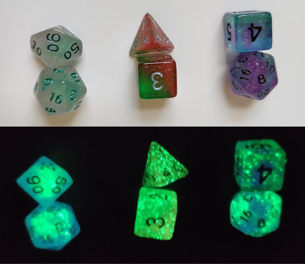 Rpg Dice Set (7): Lotus Glowworm