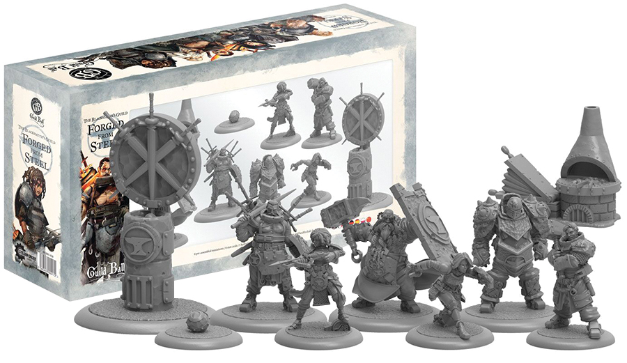 Guild Ball Blacksmith`s Guild Forged From Steel Box Front