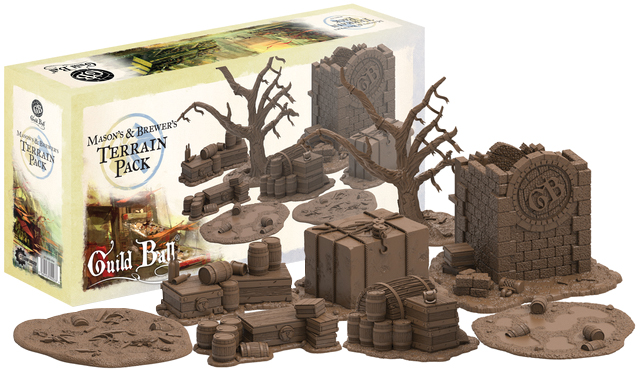 Guild Ball Masons & Brewer Terrain Pack Box Front