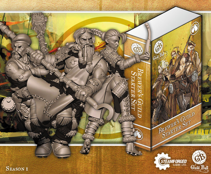 Guild Ball Brewer Starter Set (tapper, Hooper, Friday) Box Front
