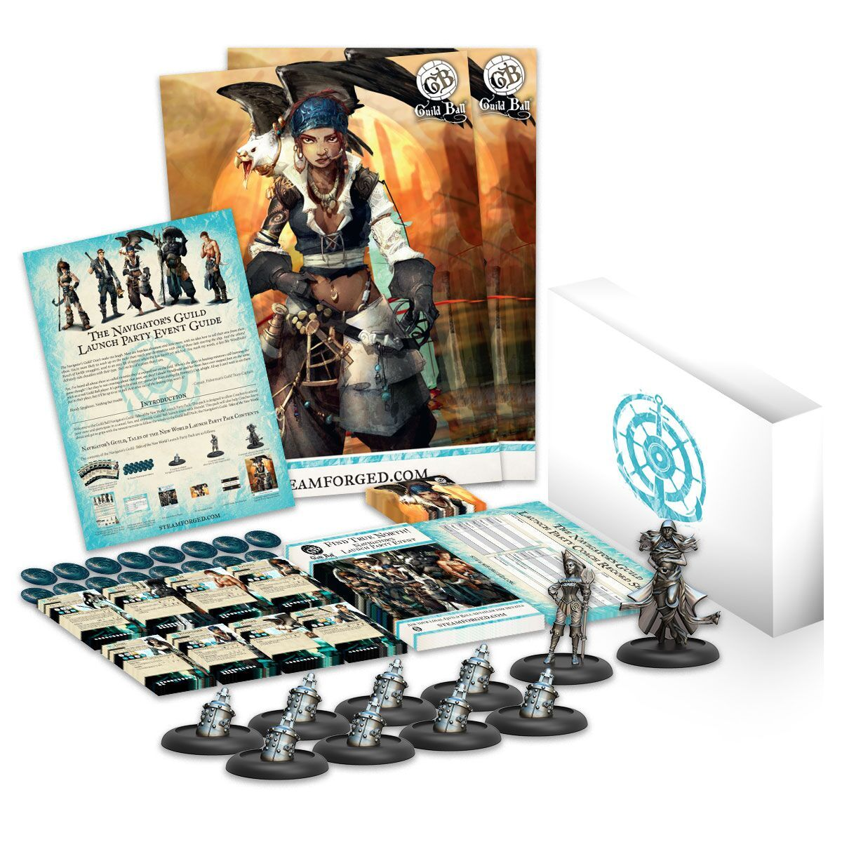 Guild Ball Launch Pack: Navigator`s Guild Tales Of The New World Box Front