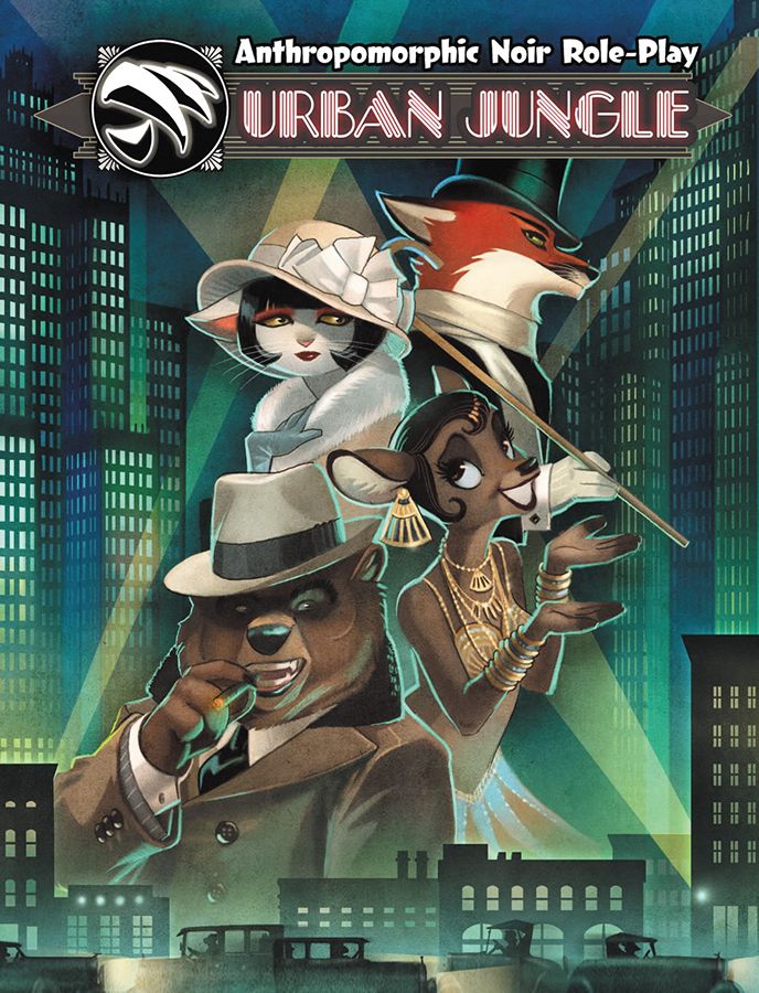 Urban Jungle Rpg- Anthropomorphic Noir Role-play Box Front