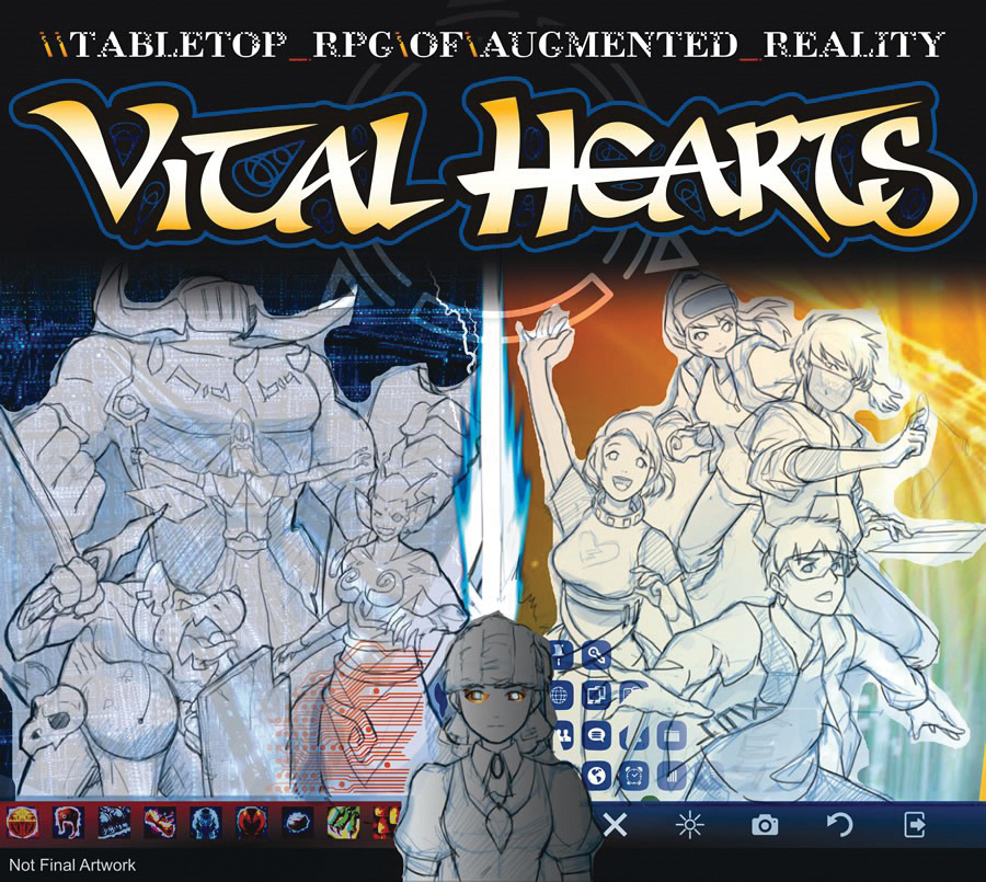Vital Hearts: Tabletop Rpg Of Augmented Reality Box Front