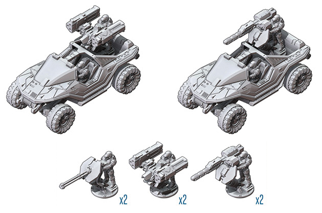 Halo: Ground Command Unsc Warthog Box Box Front