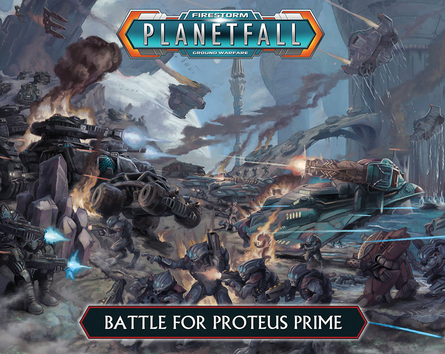 Firestorm Planet Fall: Two-player Box - Battle For Proteus Prime Box Front