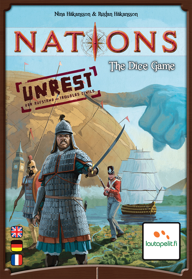 Nations: The Dice Game - Unrest Expansion Box Front