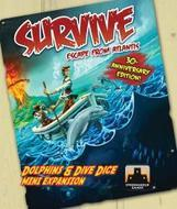 Survive Escape From Atlantis: Dolphins And Dive Dice Mini Expansion Box Front