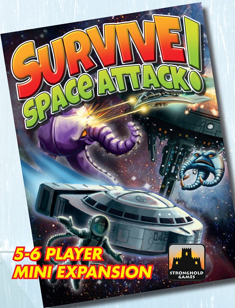 Survive: Space Attack! - 5-6 Player Mini-expansion Box Front