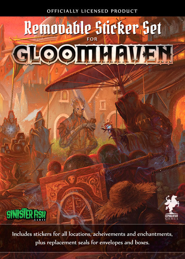 Gloomhaven Removable Stickers Set Box Front