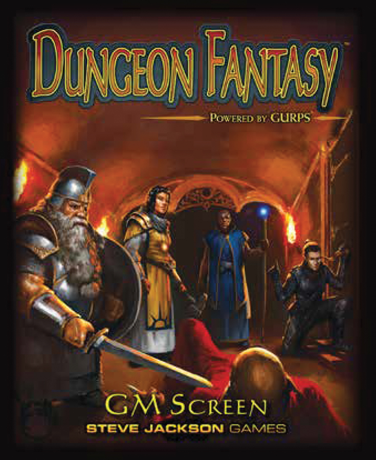 Dungeon Fantasy Rpg: Gm Screen Box Front