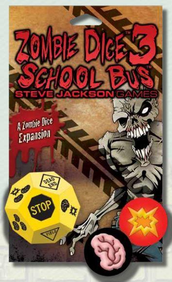 Zombie Dice 3: School Bus Expansion Box Front