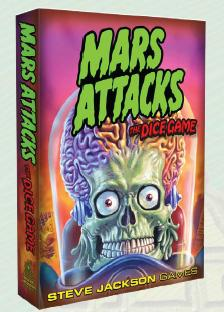 Mars Attacks: The Dice Game Box Front