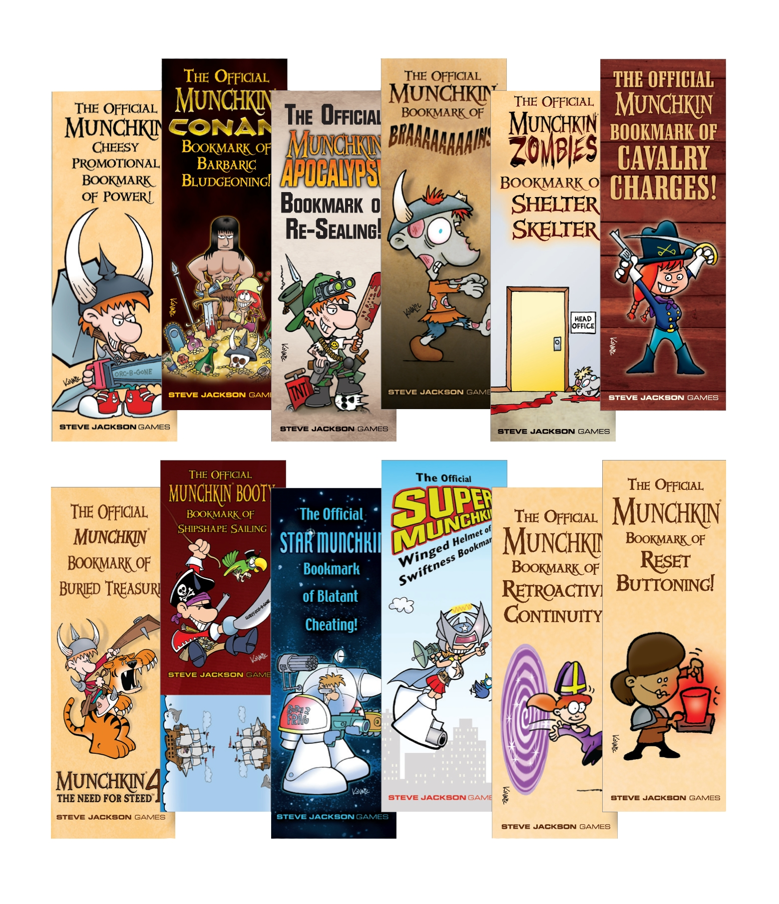 Munchkin: Bookmark Collection Box Front