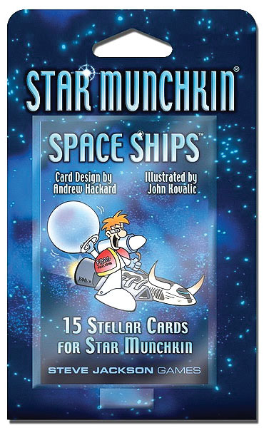 Star Munchkin: Space Ships Blister Pack Box Front