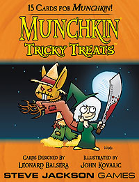 Munchkin: Tricky Treats Booster Pack Display (10) Box Front