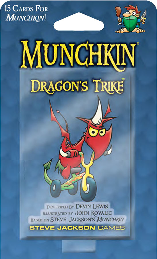 Munchkin: Dragons Trike Blister Pack Box Front