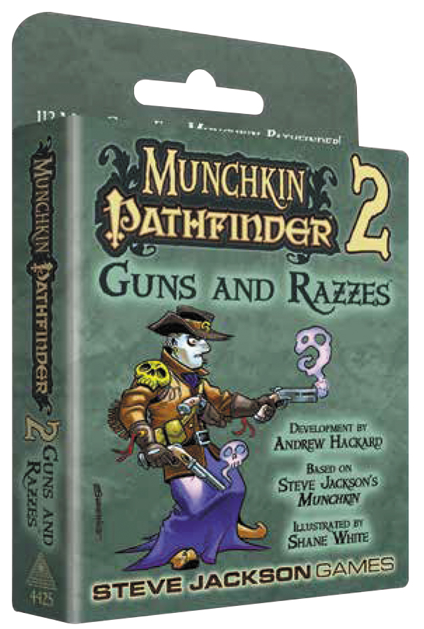 Munchkin Pathfinder 2: Guns And Razzes Expansion Box Front