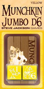 Munchkin: 25mm D6 Yellow Jumbo Dice (2) Box Front