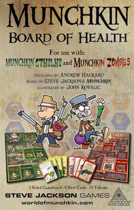 Munchkin: Board Of Health (cthulhu/zombies Gameboard) Box Front