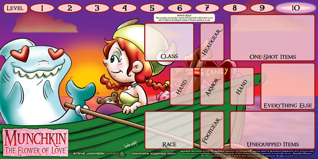 Munchkin: Playmat - The Flower Of Love (katie Cook) Box Front