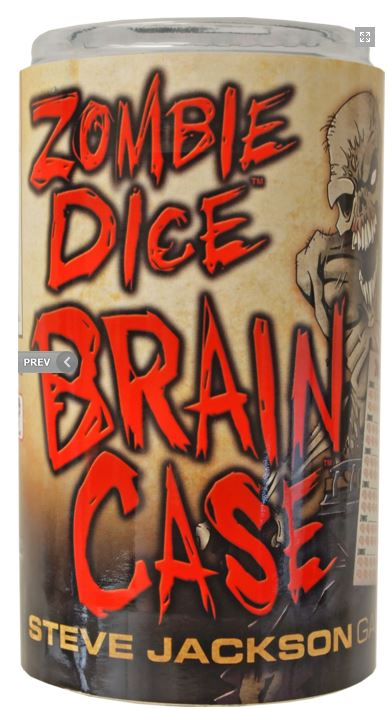 Zombie Dice: Brain Case Box Front
