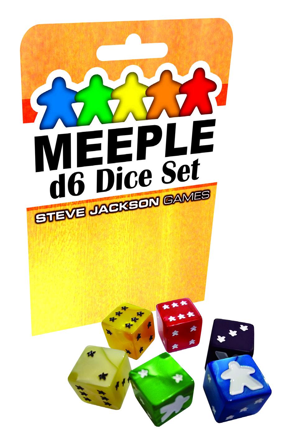 Meeple D6 Dice Set: Yellow