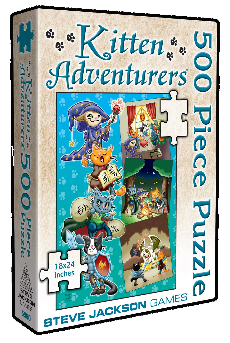 Kitten Adventurers: 500 Piece Puzzle