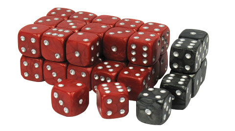 Wargaming Dice: Red Box Front