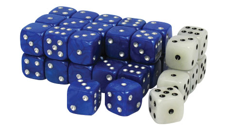 Wargaming Dice: Blue Box Front