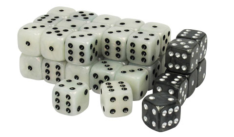 Wargaming Dice: White Box Front