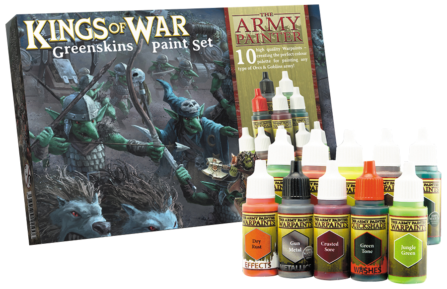 Warpaints: Kings Of War Greenskins Paint Set (10) Box Front