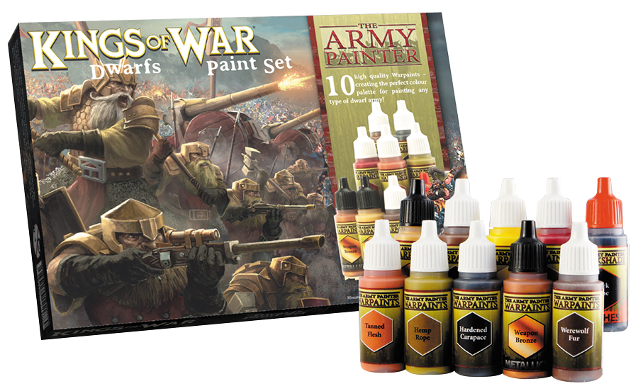 Warpaints: Kings Of War Dwarfs Paint Set (10) Box Front