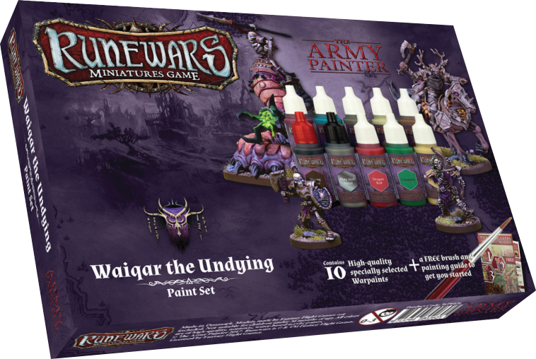 Runewars: Waiqar The Undying Paint Set Box Front