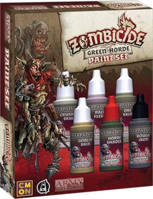 Warpaints: Zombicide Black Plague Green Horde Paint Set Box Front