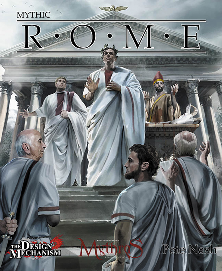 Mythras Rpg: Mythic Rome Box Front
