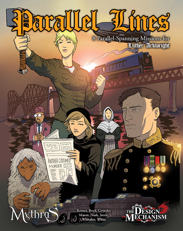Mythras Rpg: Luther Arkwright - Parallel Lines Box Front