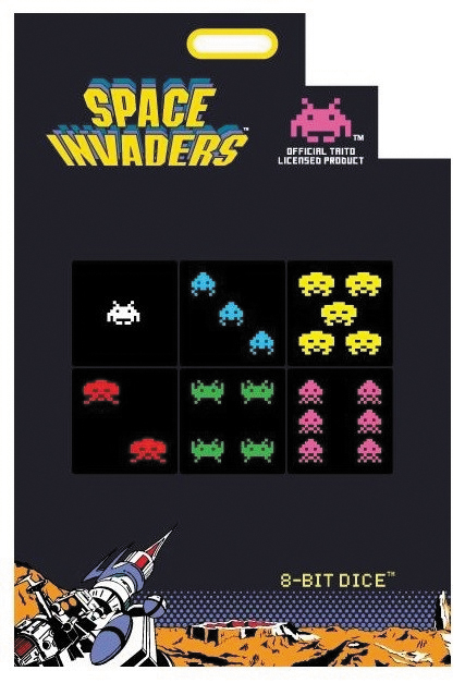 8-bit Dice: Space Invaders Edition (6) Box Front