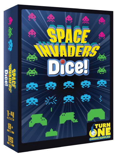 Space Invaders: Dice Box Front